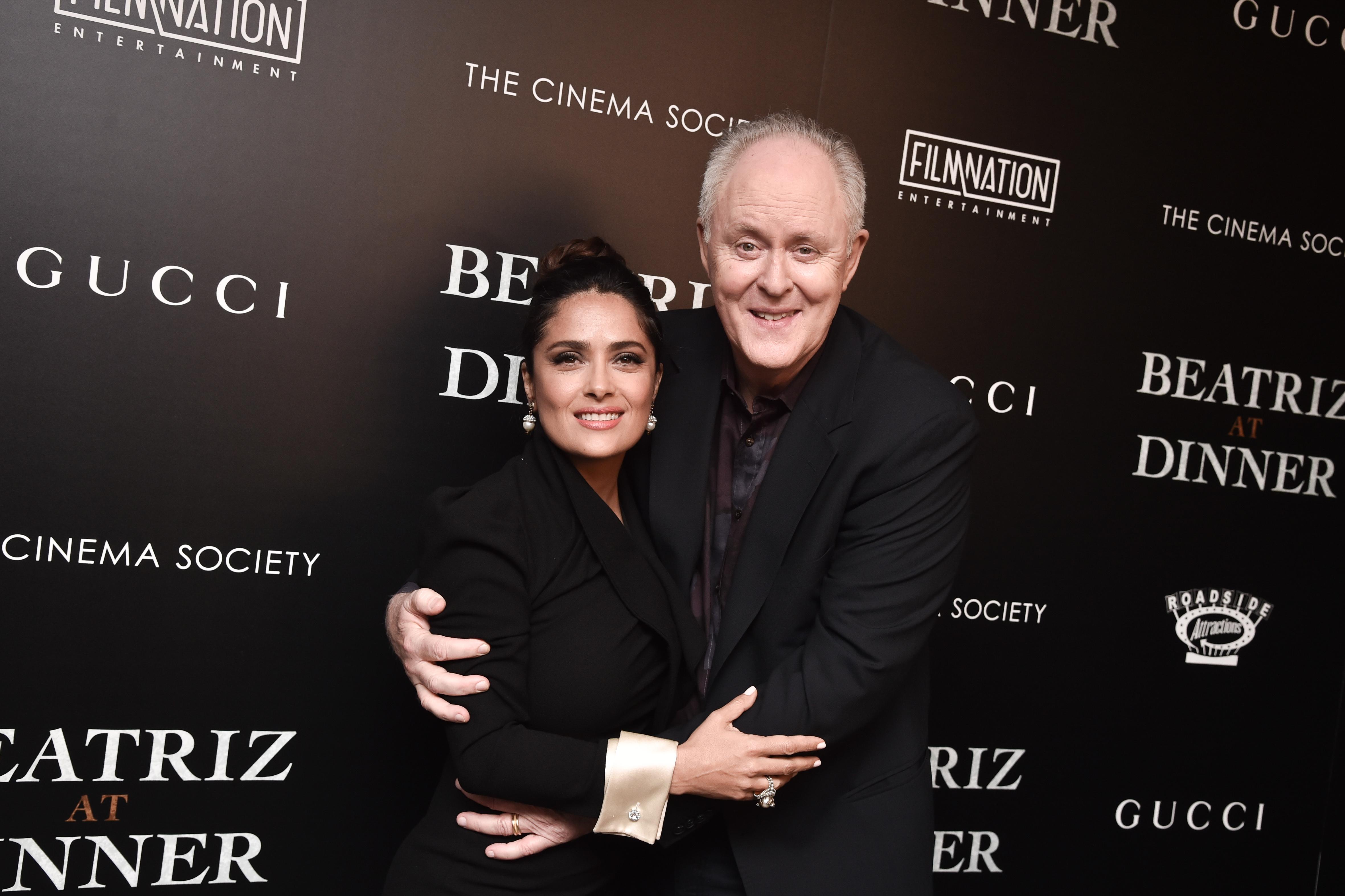 Salma Hayek, John Lithgow'Beatriz at Dinner' film screening, New York, USA - 06 Jun 2017