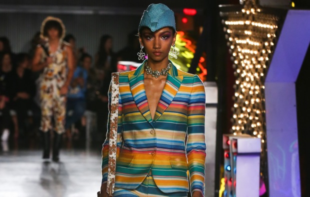 Model on the catwalkMOSCHINO Spring Summer 2018 Menswear and Women's Resort Collection, Runway, Los Angeles, USA - 08 Jun 2017