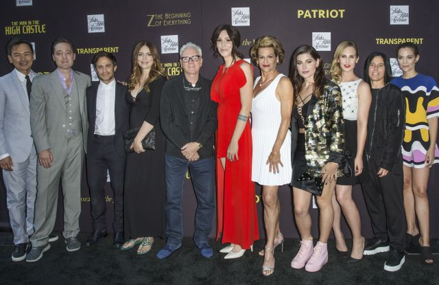 Joel De La Fuente, Brennan Brown, Gael Garcia Bernal, Saffron Burrows, Malcolm McDowell, Our Lady J, Alexandra Billings, Trace Lysette, Zackary Drucker, Andrea Sperling, and Kathleen Munroe Amazon Prime Video Event, Saks Fifth Avenue, New York, USA - 22 Jun 2017