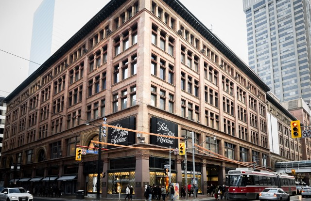 The Saks Fifth Ave store in Toronto.