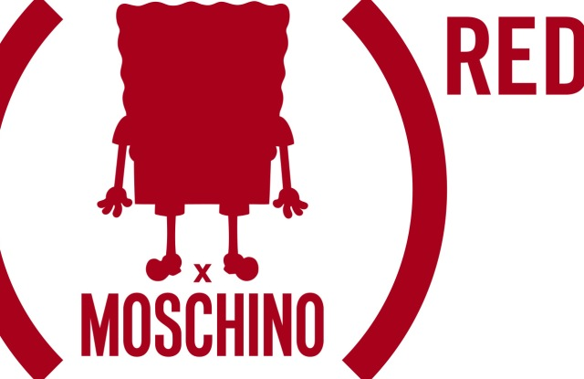 The (SPONGEBOB) RED Moschino logo.