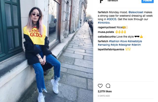 farfetch, instagram, social media, e-commerce