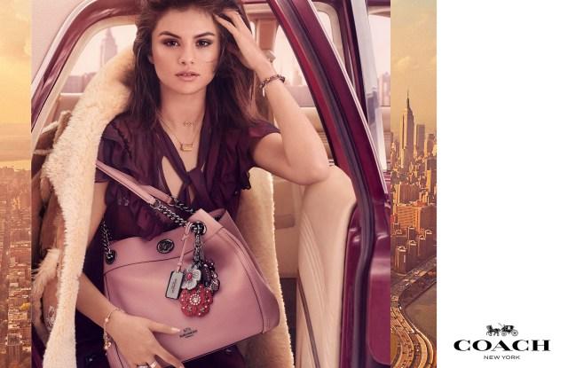 Selena Gomez in fall Coach campaign.