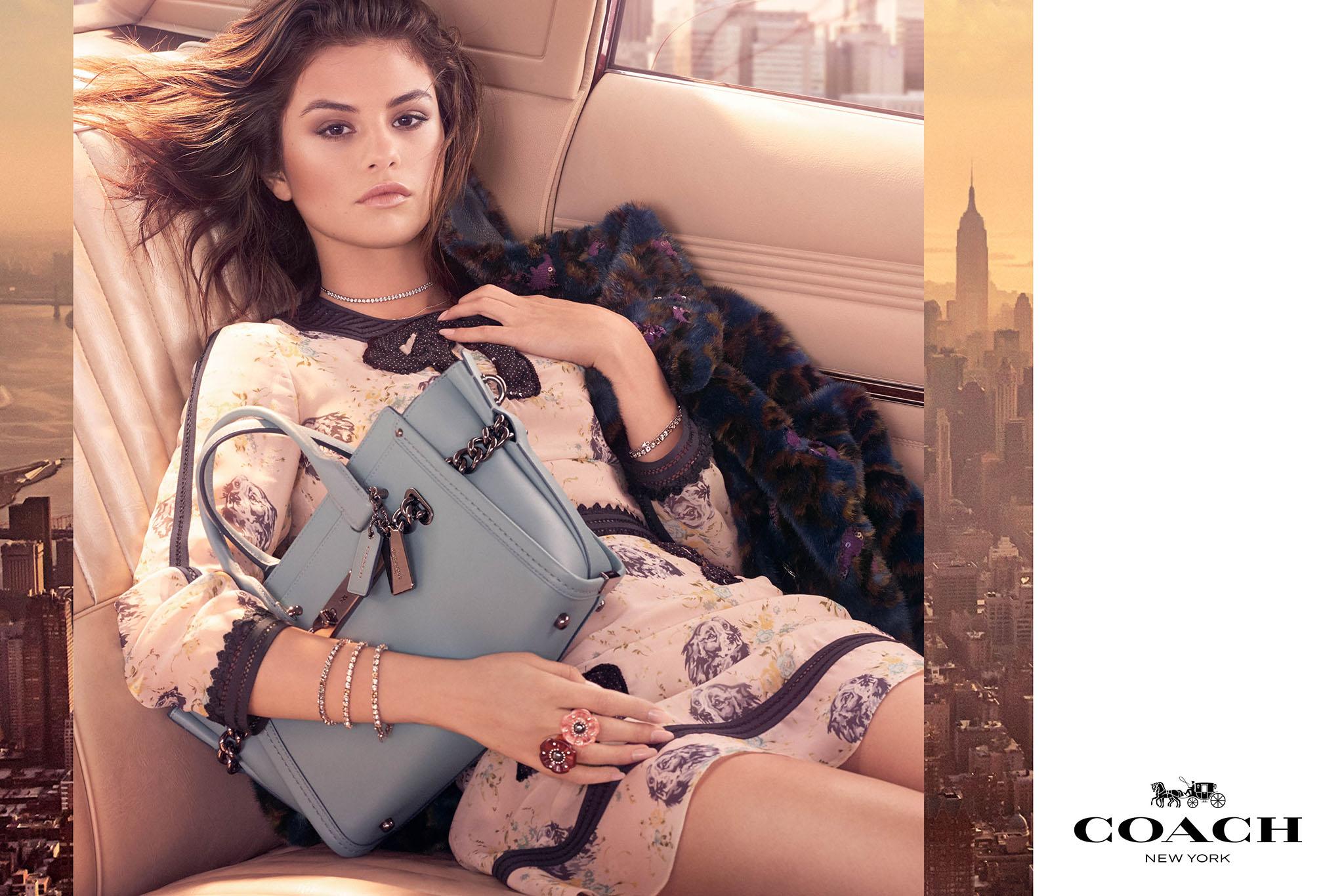 Selena Gomez in the fall Coach campaign.