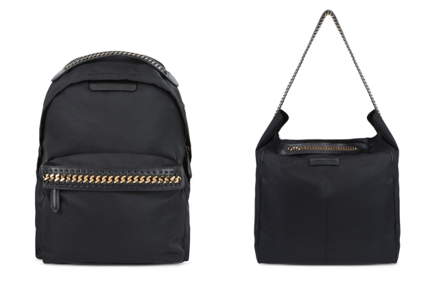 Two of Stella McCartney's Falabella Go bags.