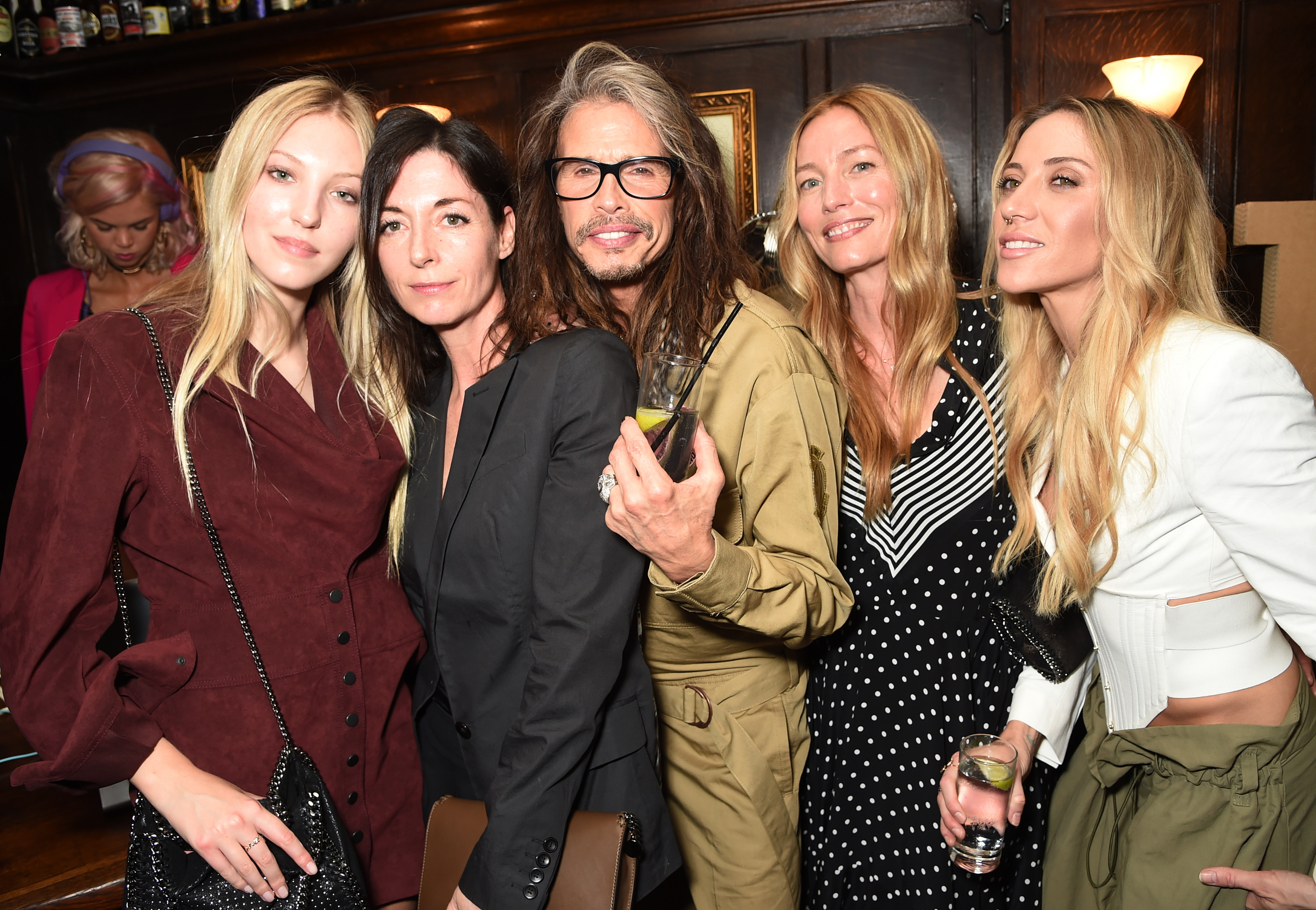 Ella Richards, Mary McCartney, Steven Tyler, Lucie de la Falaise Aimee Ann Preston