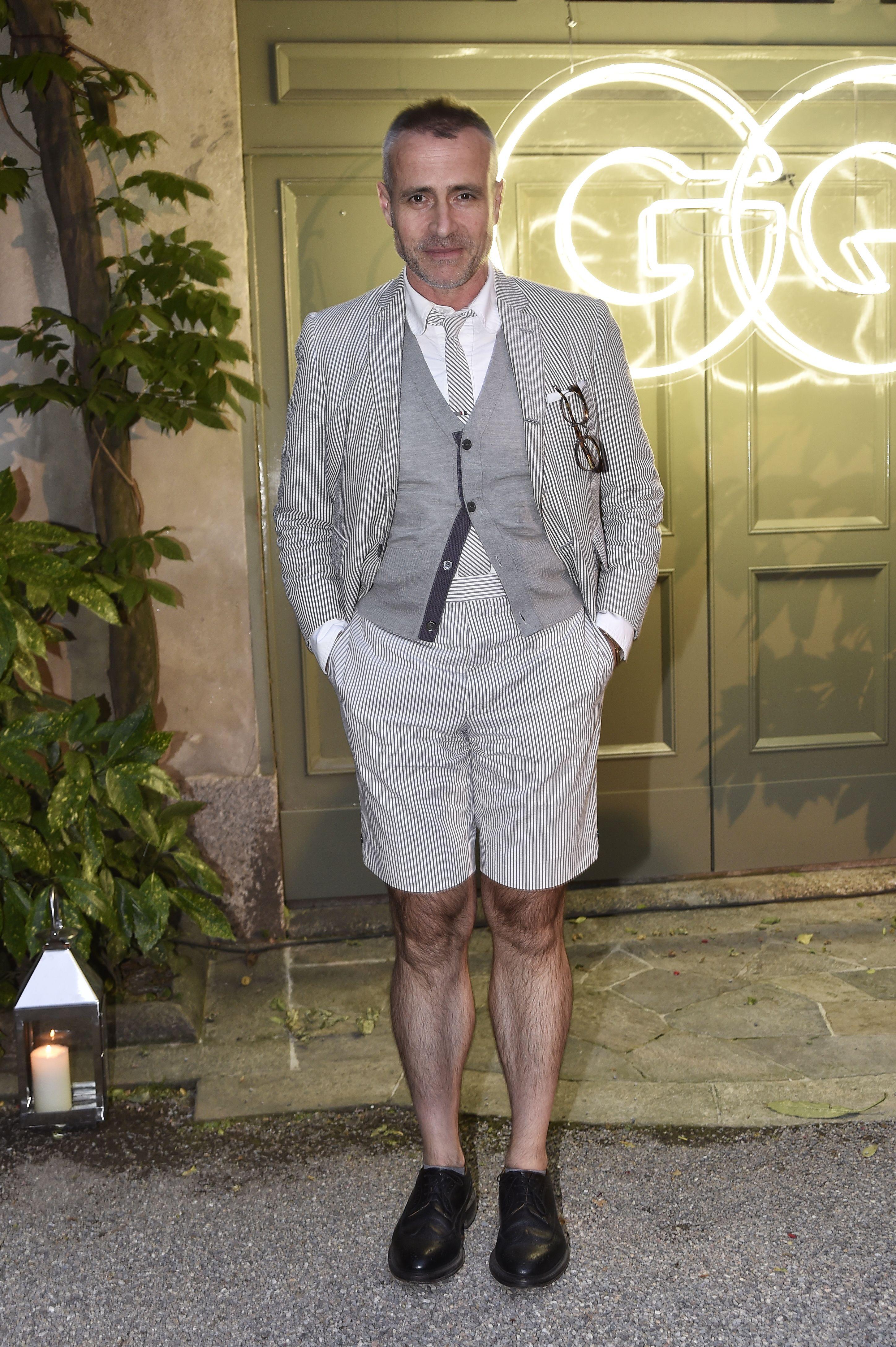 Thom BrowneGQ cocktail party, Spring Summer 2018, Milan Fashion Week Men's, Italy - 17 Jun 2017