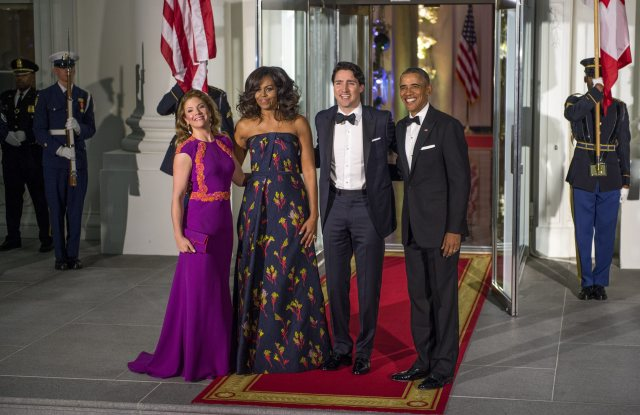 Wearing Lucian Matis to the State Dinner the White House in Washington DC