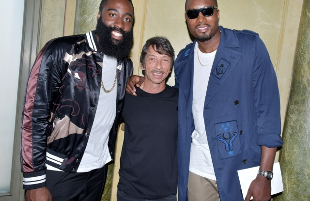 James Harden, Pierpaolo Piccioli and Serge Ibaka in the front rowValentino show, Spring Summer 2018, Paris Fashion Week Men's, France - 21 Jun 2017
