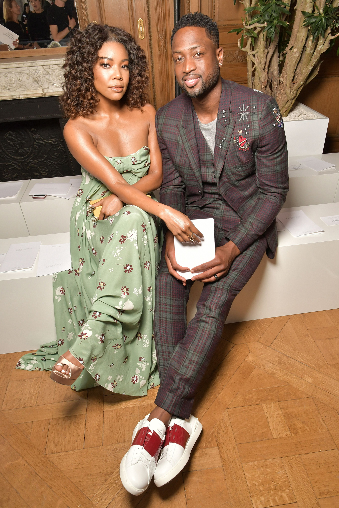 Gabrielle Union and Dwyane Wade in the front rowValentino show, Spring Summer 2018, Paris Fashion Week Men's, France - 21 Jun 2017