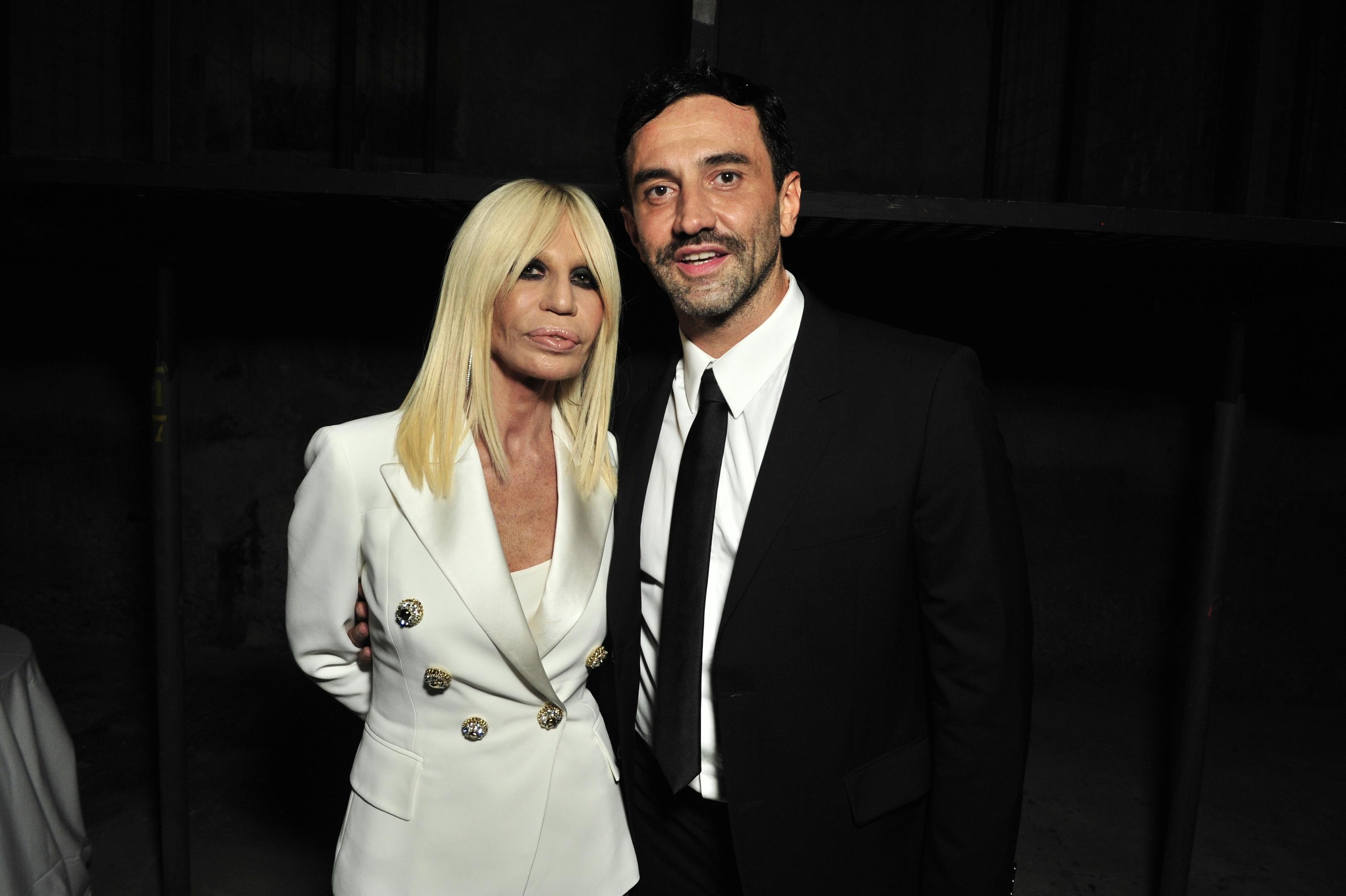Donatella Versace and Riccardo TisciGivenchy: #GRTmilano 17 Party, Spring Summer 2016, Milan Fashion Week, Italy - 25 Sep 2015