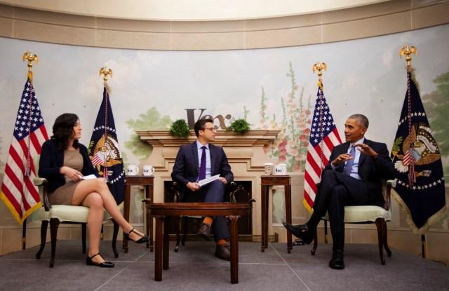 Obama on Obamacare: Vox's Ezra Klein and Sarah Kliff speak with President Obama on January 6, 2016 at Blair House in Washington, DC.