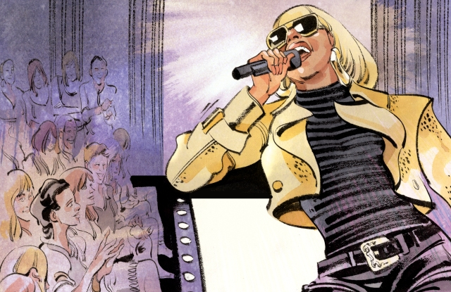 Illustration of Mary J Blige