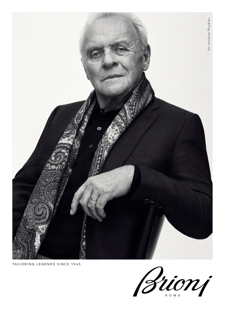 Anthony Hopkins in Brioni ad
