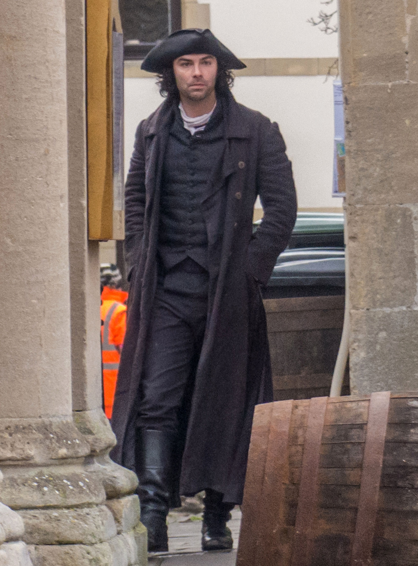 Aidan Turner (Ross Poldark)'Poldark' on set filming, Wells, UK - 10 Feb 2017