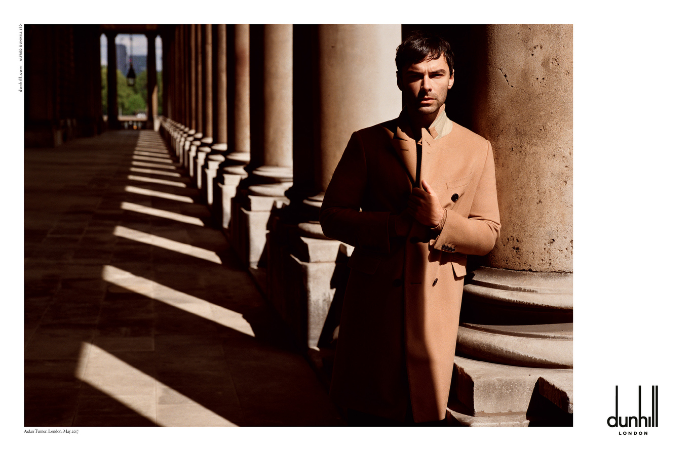 A still from Dunhill's new ad campaign featuring Aidan Turner