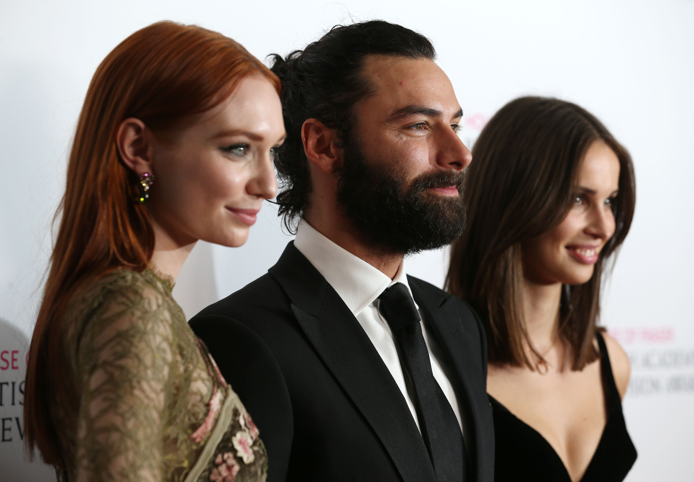 Eleanor Tomlinson, Aidan Turner and Heida ReedHouse of Fraser British Academy Television Awards, Press Room, Royal Festival Hall, London, Britain - 08 May 2016