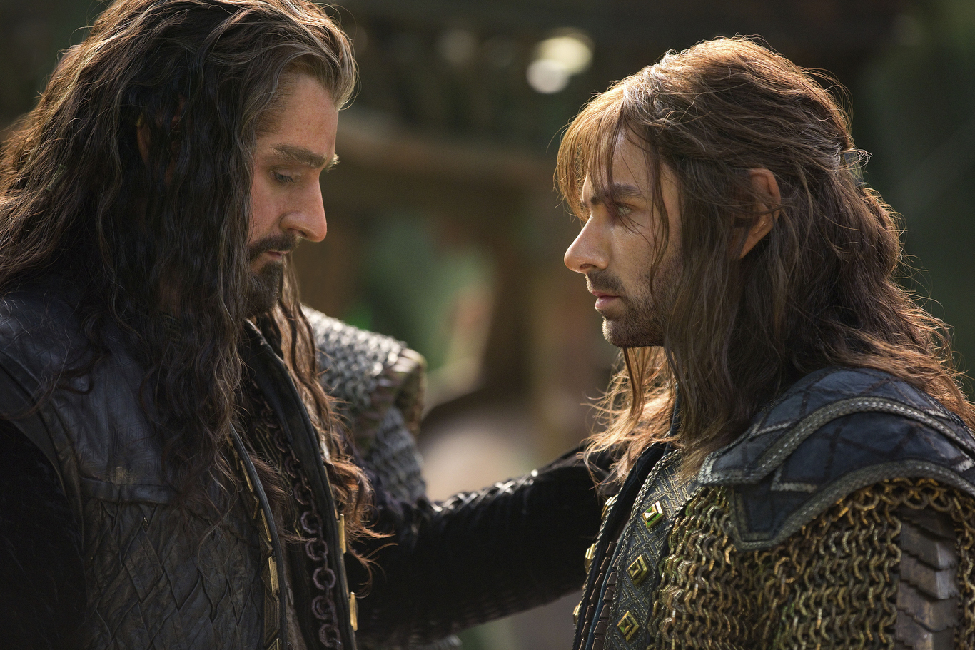 No Merchandising. Editorial Use Only. No Book Cover Usage.Mandatory Credit: Photo by Todd Eyre/New Line/MGM/Wingn/REX/Shutterstock (5886032ak)Richard Armitage, Aidan TurnerThe Hobbit - The Battle Of The Five Armies - 2014Director: Peter JacksonNew Line/MGM/Wingnut FilmsNEW ZEALAND/USAScene StillFantasyThe Hobbit - The Battle Of The Five ArmiesLe Hobbit: La bataille des cinq armŽes