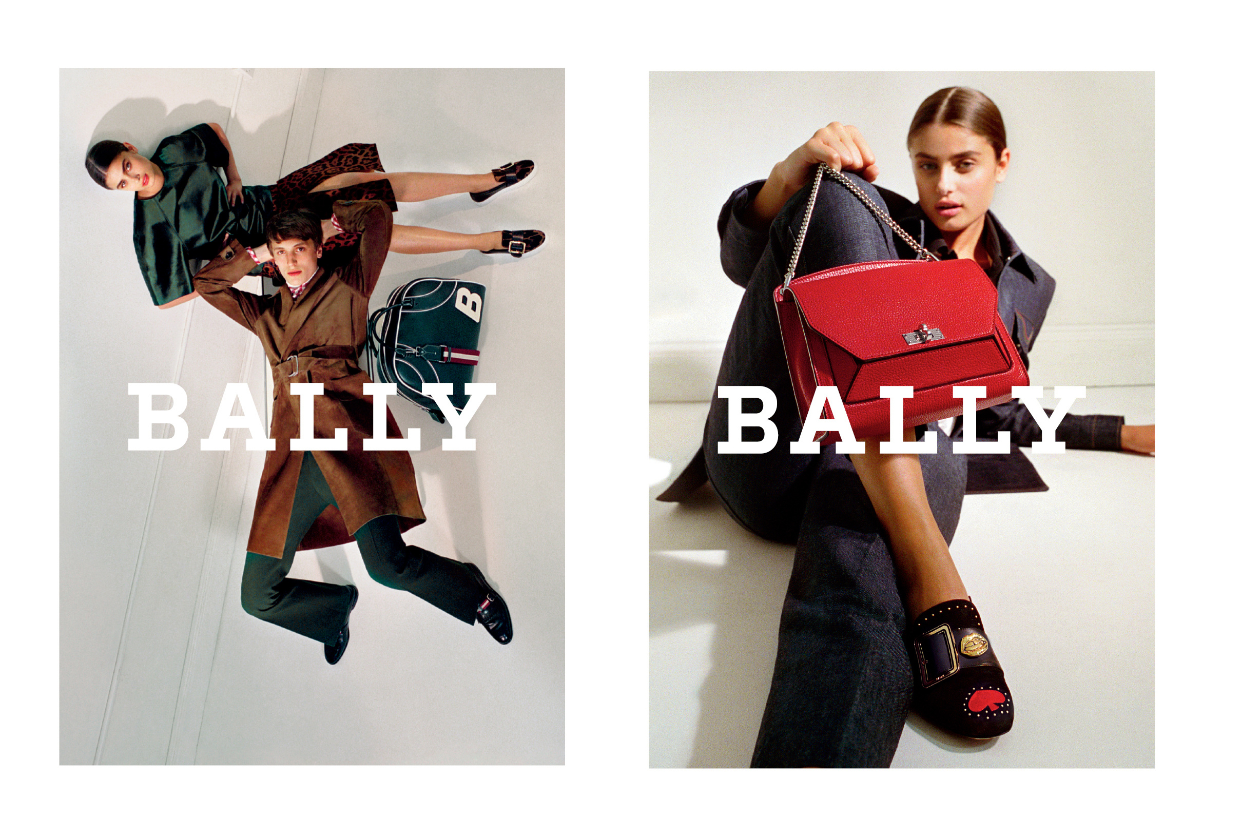 Visuals of Bally's Fall 2017 advertising campaign