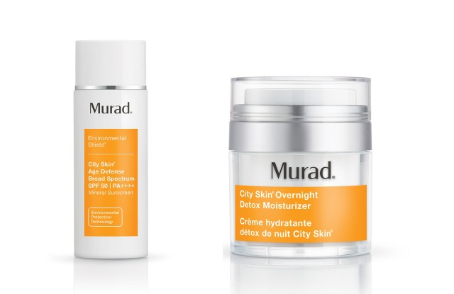 Murad City Skin SPF 50 and City Skin Overnight Detox Moisturizer.