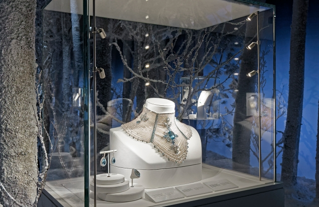 A view of Boucheron's wintry presentation.