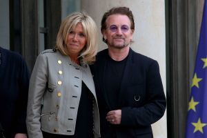 Bono and Brigitte Trogneux