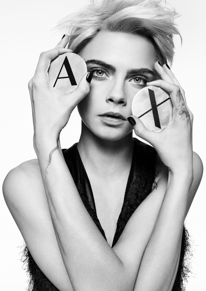 Cara Delevingne in the fall A|X Armani Exchange ads