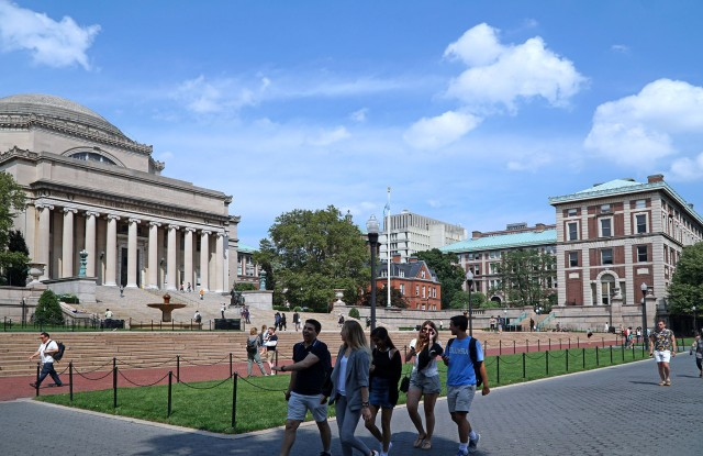 NEW YORK - JULY 2017:  Columbia University is an urban member of the Ivy League dating from colonial times, with an elegant campus in the north end of Manhattan.; Shutterstock ID 677406703; Usage: Web; Issue Date: 7/19