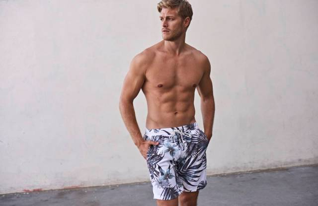 A look from Devereux's new swim collection.