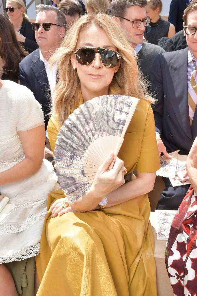 Celine Dion at Christian Dior