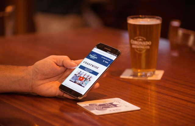 Coronado Brewing Co. collaborated with Thinfilm to distribute innovative coasters in bars that engage beer drinkers on the story behind its CoastWise Session IPA with the simple tap of a smartphone.