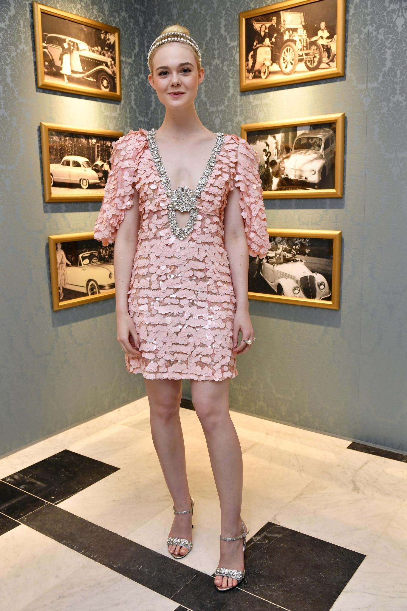 Elle FanningMiu Miu dinner, Fall Winter 2017, Haute Couture Fashion Week, Paris, France - 02 Jul 2017