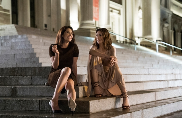 """Cobie Smulders and Annie Parisse in a scene from """"Friends from College."""""""