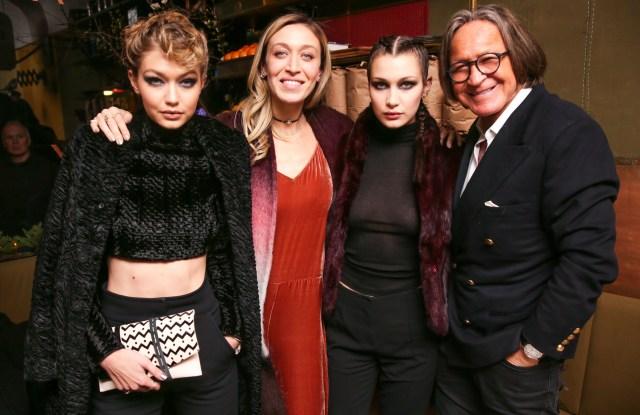 Gigi Hadid, Alana Hadid, Bella Hadid, Mohamed HadidAlana Hadid x Lou & Grey Celebrate: Collaboration event, New York, America - 09 Feb 2016