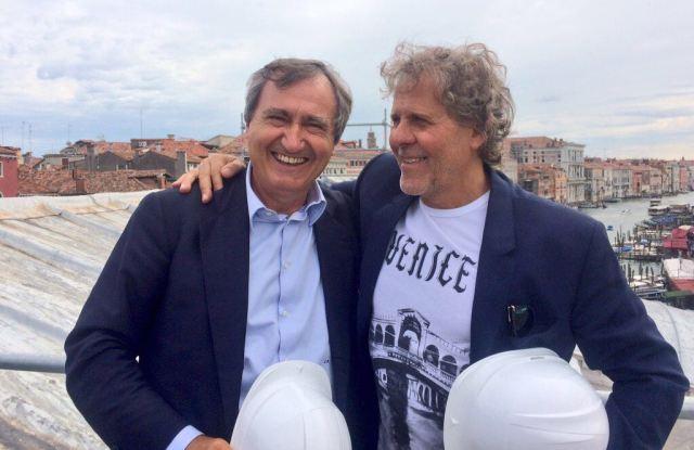 Luigi Brugnaro and Renzo Rosso