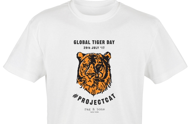 Marcus Wainwright designed this Project C.A.T. T-shirt to save the tigers.