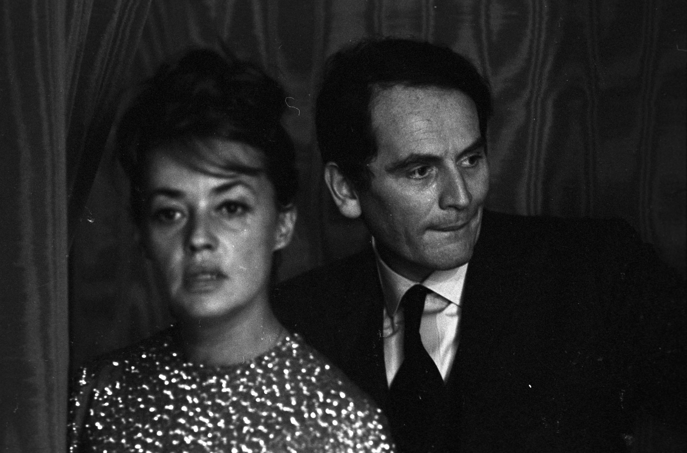 Jeanne Moreau with Pierre Cardin