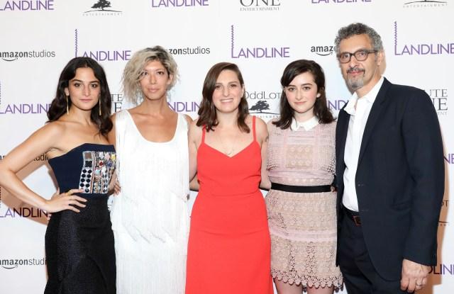 Jenny Slate, Elisabeth Holm, Gilligan Robespierre, Abby Quinn and John Turturro'Landline' film premiere, Arrivals, New York, USA - 18 Jul 2017