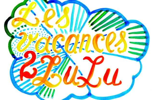 The logo created by M/M for the Les Vacances de Lucien pop-up at Colette