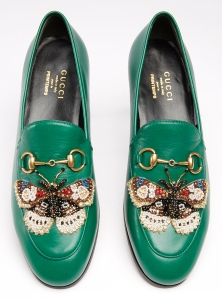Leather moccasins are part of an exclusive Gucci collection for Printemps