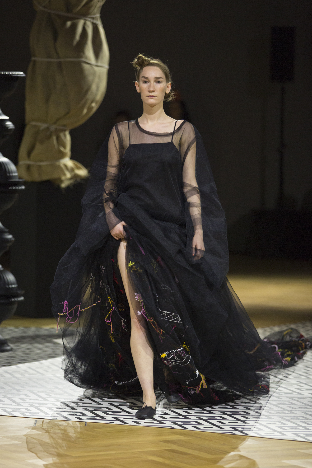 Molly Goddard's Fashion in Motion Show at the Victoria & Albert museum