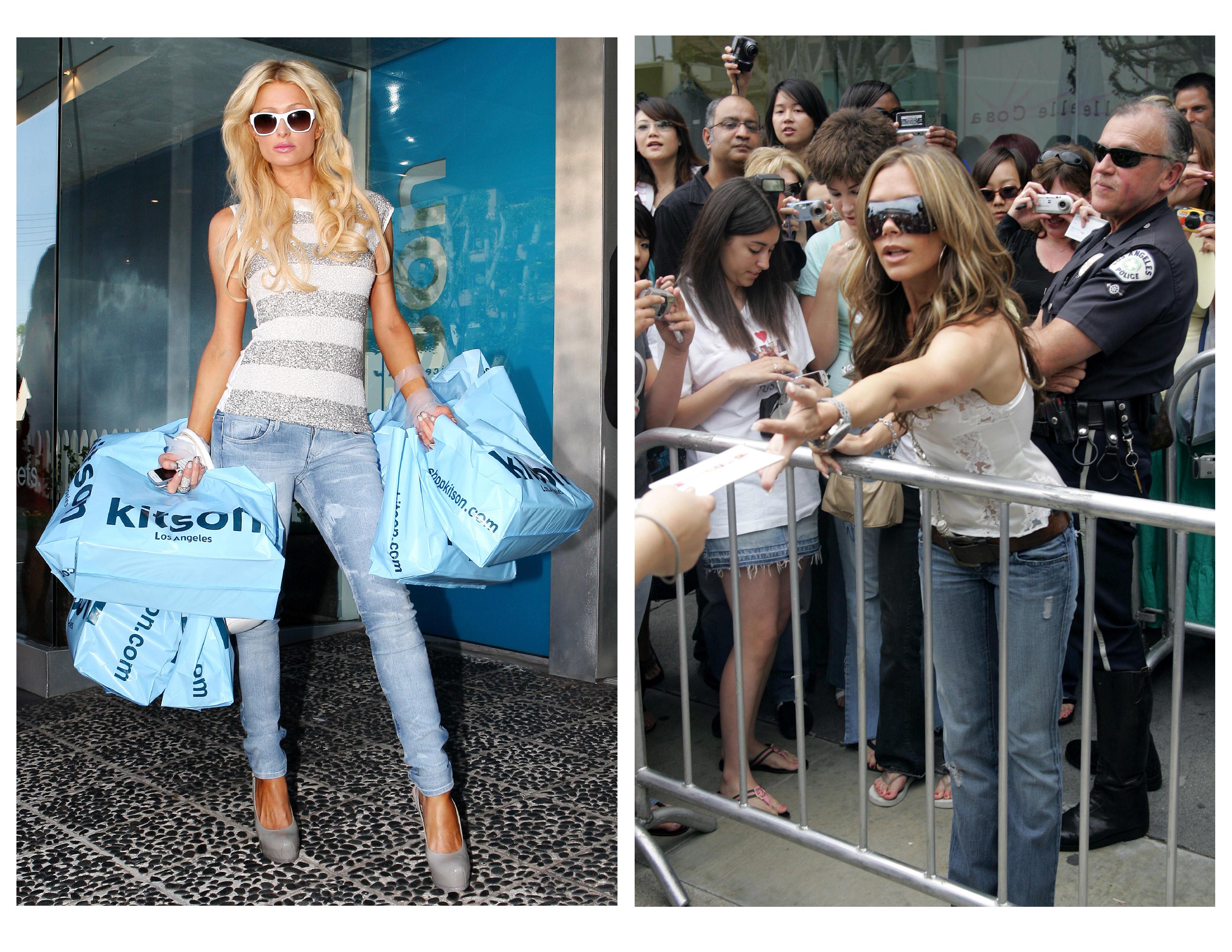 Paris Hilton Victoria Beckham Kitson