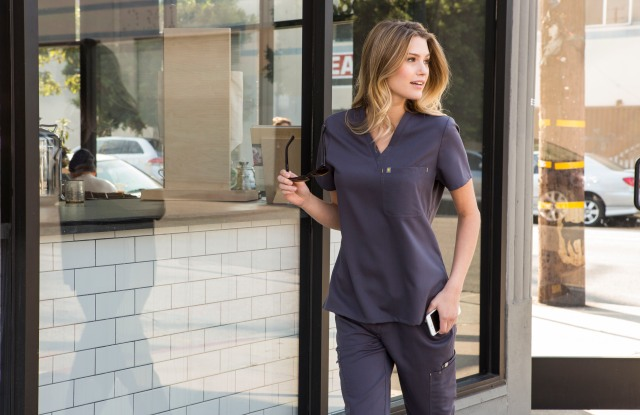 A look from the Figs line of medical scrubs.