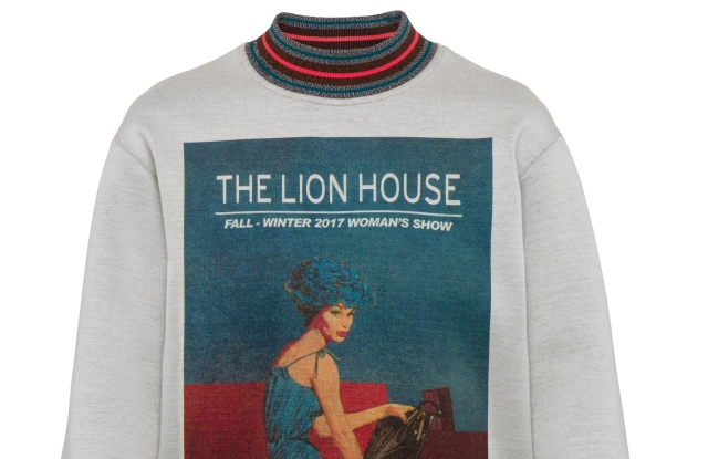 """A sweatshirt from the """"Prada Poster Girl"""" capsule collection"""