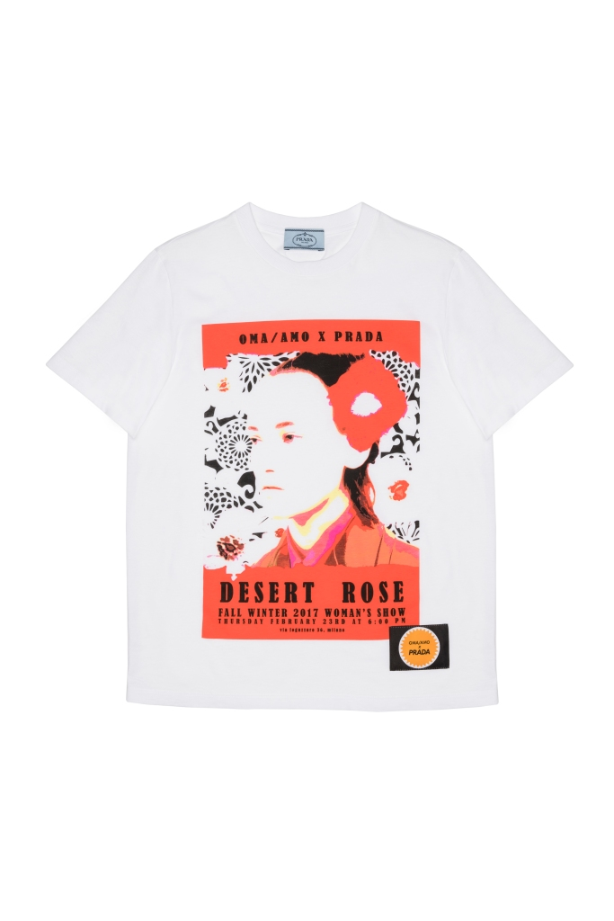 """A T-shirt from the """"Prada Poster Girl"""" capsule collection"""
