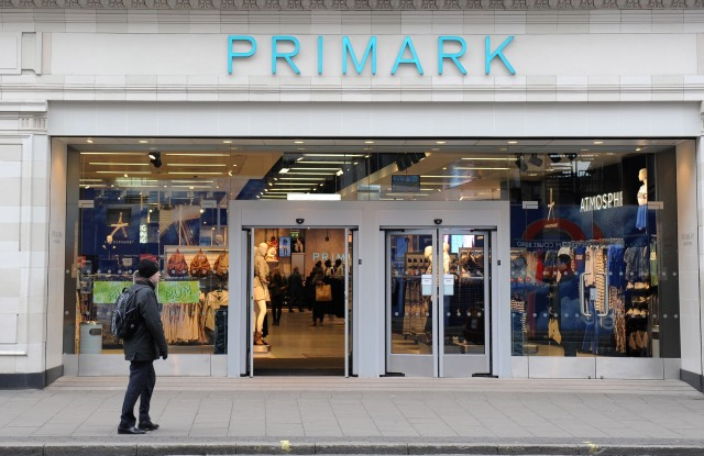 The Primark store on Oxford Street