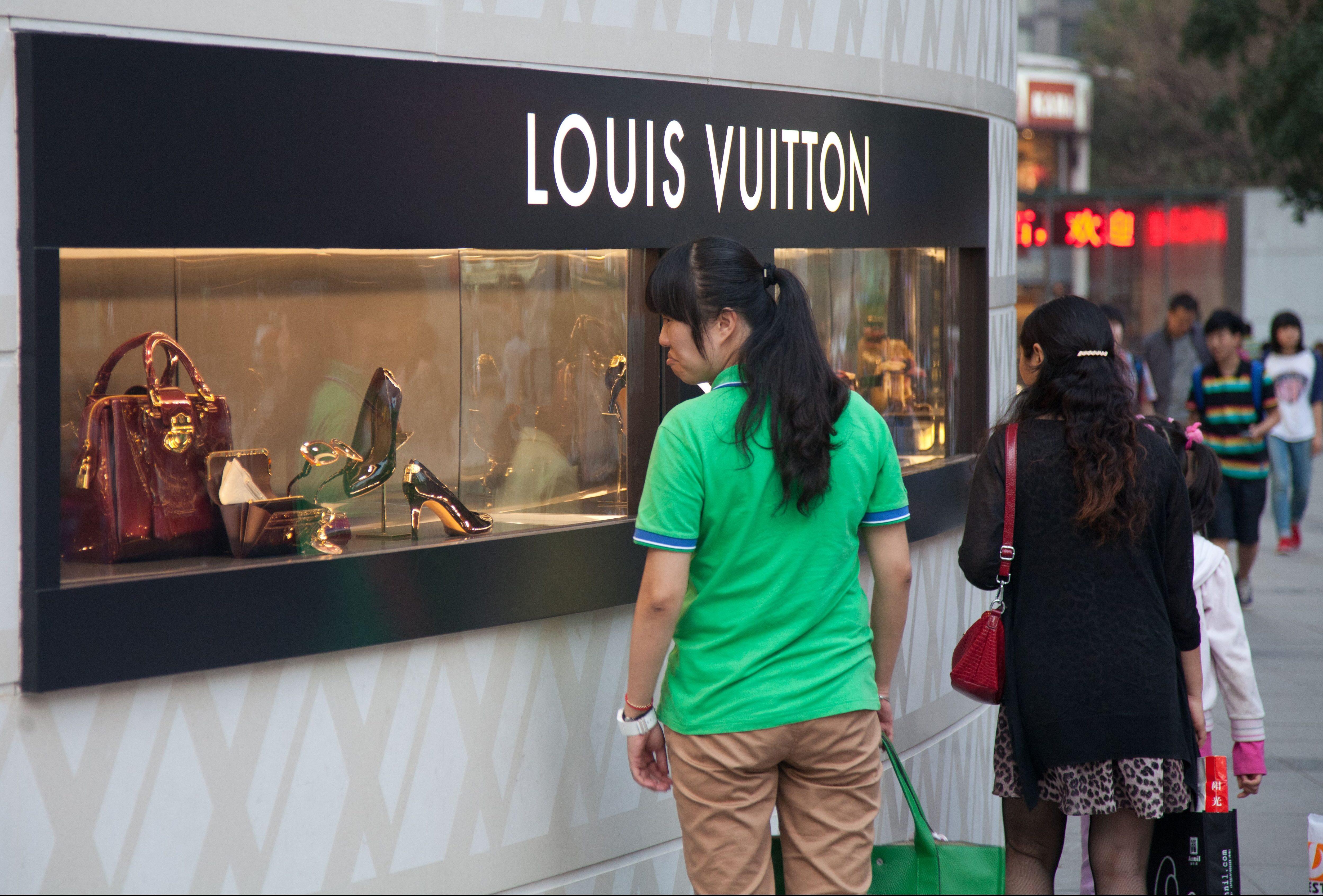 A Louis Vuitton store in Chongqing, China.