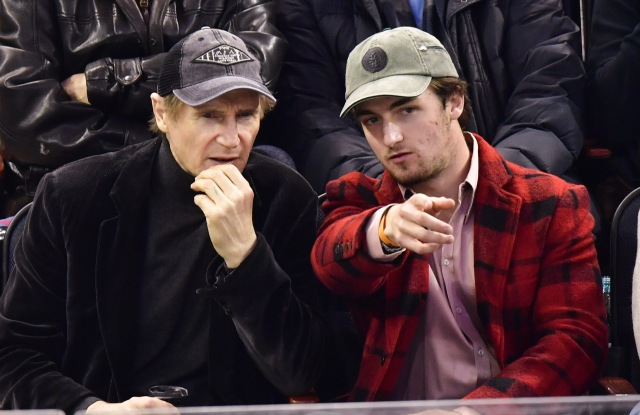 Liam Neeson and Daniel NeesonNew York Rangers v Florida Panthers, NHL Ice Hockey, Madison Square Garden, New Yok, USA - 20 Nov 2016