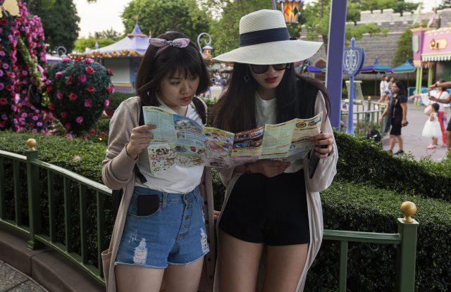 Mainland Chinese tourists at Disneyland.