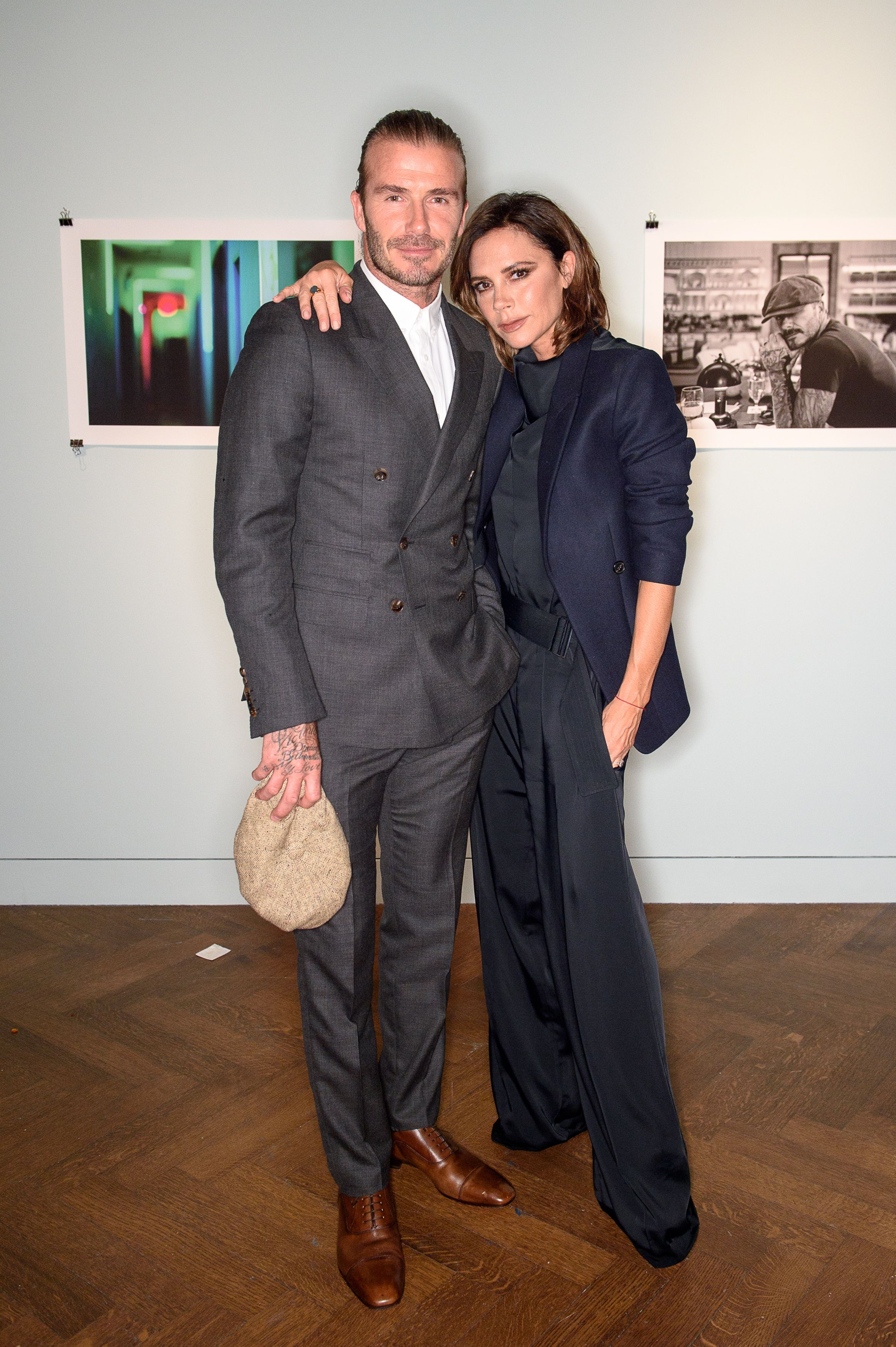 David Beckham and Victoria BeckhamBrooklyn Beckham: 'What I See' exhibition and book launch at Christie's in partnership with Polo Ralph Lauren, New Bond Street, London, UK - 27 Jun 2017